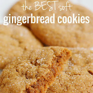 BEST Soft Gingerbread Cookies