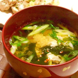 Miso Soup with Seaweed and Egg White