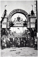 Photo: 1928 Ereboog aan de Heilaarstraat ter gelegenheid van het gouden huwelijksfeest van Henricus van Gurp en Adriana Maria Schelleken
