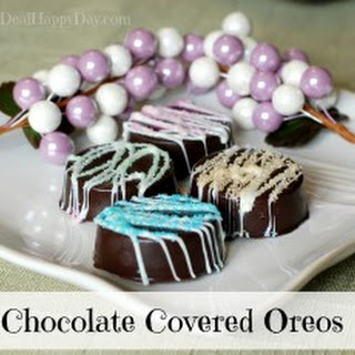Chocolate Covered Oreos – Spring Version!
