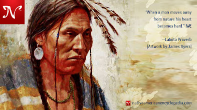 Photo: When a man moves away from nature, his heart becomes hard. —Lakota Proverb [Artwork by James Ayers]
