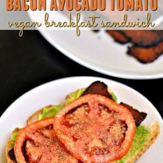 Vegan Bacon, Avocado & Tomato Breakfast Sandwich