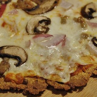 Quinoa Flour Pizza Crust.