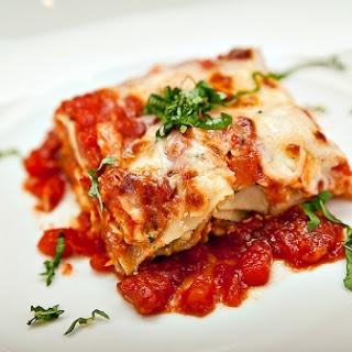 Easy Vegetarian Lasagna.