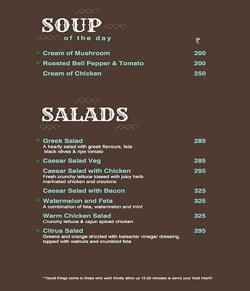 The Brew Room menu 6