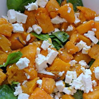 Pumpkin And Spinach Salad Feta Recipes