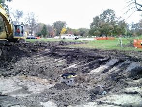 Photo: Excavation of bio retention pond 10-16-2013