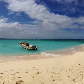 Panoramic Caribbean View by Jennifer Lamanca Kaufman - Instagram & Mobile iPhone ( anguilla, vacation, scenic view, ocean, beach, caribbean, panoramic, [paradise, island )