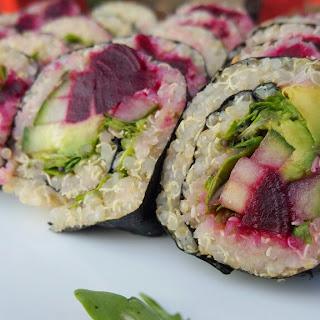 Vegan Quinoa Beet Sushi