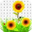 Sunflower Color By Number - Pixel Art icon