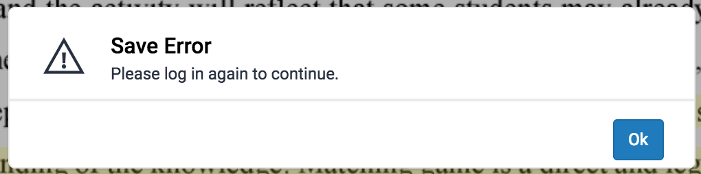 Turnitin Feedback Studio error message 1.