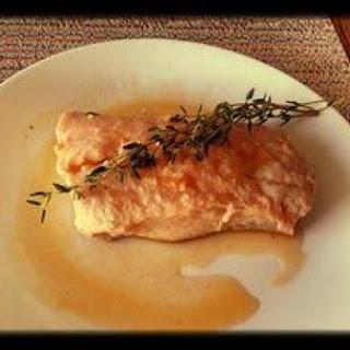 Poached Salmon in Tomato Garlic Broth