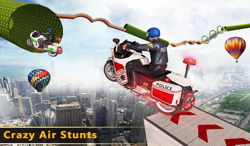 Police Bike Mega Ramp Impossible Bike Stunt Games painmod.com screenshots 20
