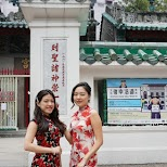 lovely Chinese ladies at Man Mo Temple in Hong Kong, , Hong Kong SAR