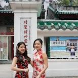 lovely Chinese ladies at Man Mo Temple in Hong Kong, , Hong Kong SAR