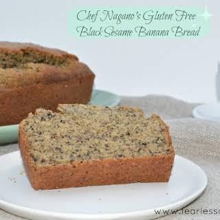 Chef Nagano's Gluten Free Black Sesame Banana Bread.