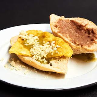 Scrambled Egg Torta With Salsa Verde.