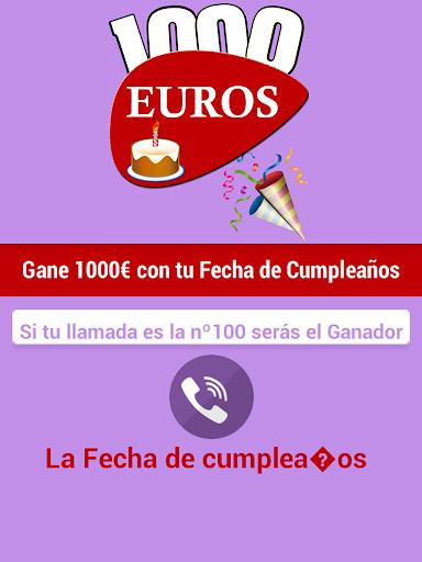 Fecha Cumpleaños Cadena 1000 €