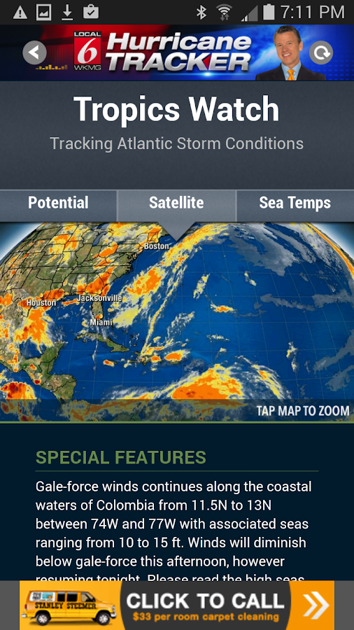 Hurricane Tracker WKMG Orlando- screenshot