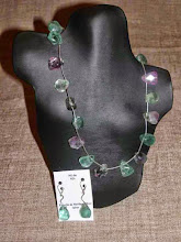 Photo: <BEREHYNYA> {Great Goddess Protectress} unique one-of-a-kind statement jewellery by Luba Bilash ART & ADORNMENT  Fluorite, SS SOLD/ПРОДАНИЙ