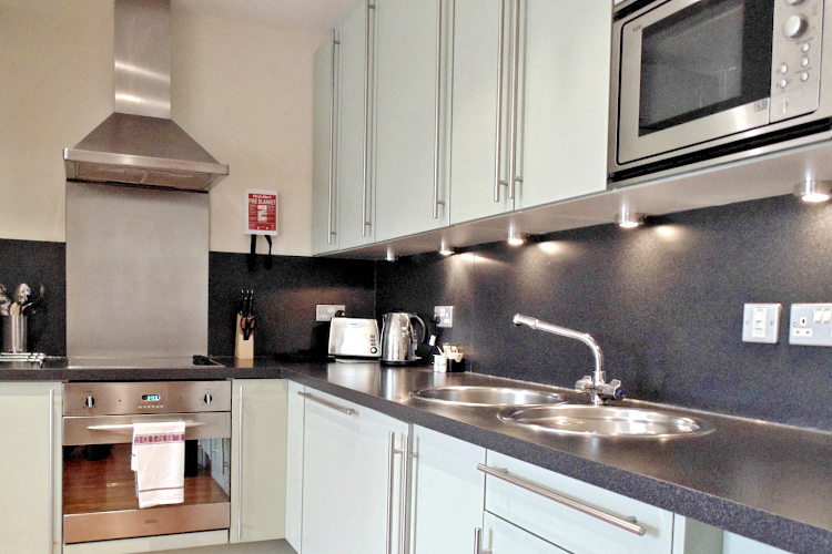 Fully equipped kitchen at Tower Hill Executive