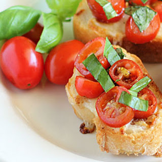 Tomato, Basil & Mozzarella Bruschetta.