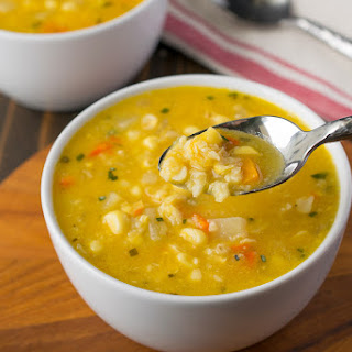 Sweet Corn Sage Soup