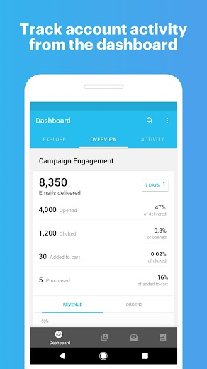 Screenshot 1 for MailChimp's Android app'