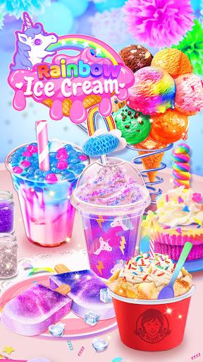 Rainbow Ice Cream - Unicorn Party Food Maker 1.5 screenshots 1