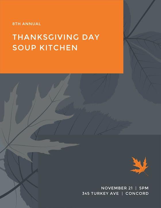 Thanksgiving Soup Kitchen - Thanksgiving Template