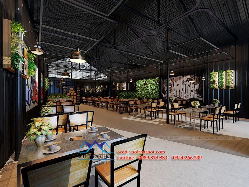 thiết kế nhà hàng bình dân