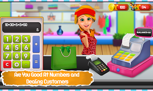 Fashion Store Cashier Girl - Kids Game - náhled