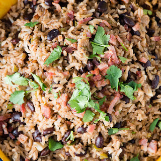 Cuban Black Beans and Rice (Moros y Cristianos).