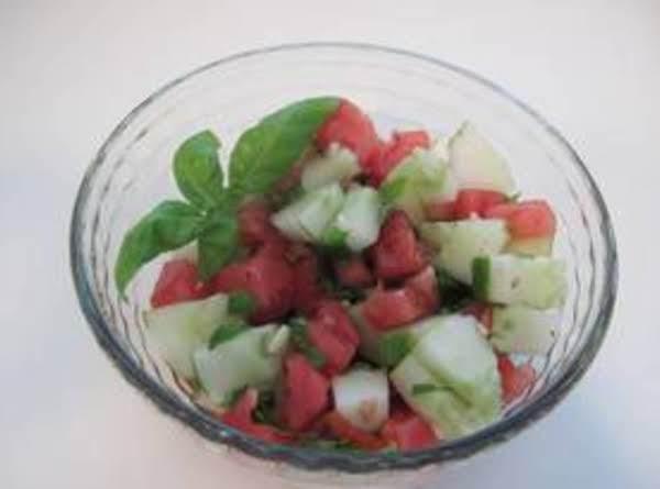 Tomato Cucumber Basil Salad Recipe