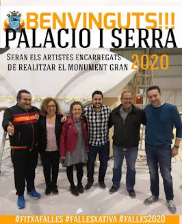 Palacio i Serra artistes fallers 2020 de la Ferroviària de Xativa