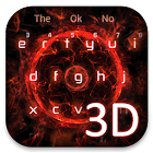 3D Red Tech Keyboard icon