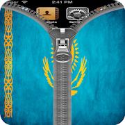 Kazakhstan Flag Zipper Lock