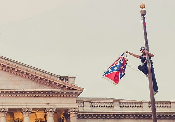 Ms. Newsome scaled a flagpole to remove the Confederate battle flag from the State Capitol in Columbia, S.C., in 2015.