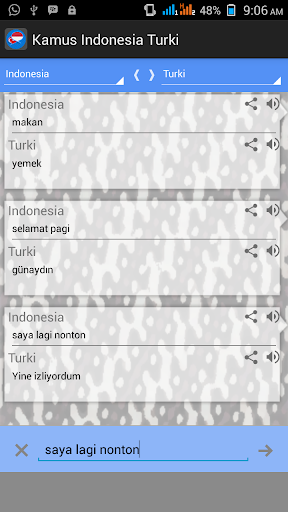 Kamus Indonesia Turki