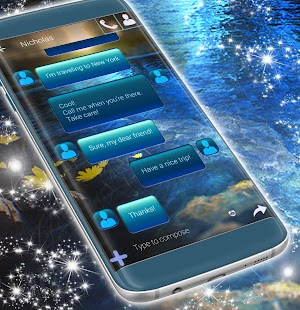 Water Theme for SMS - náhled