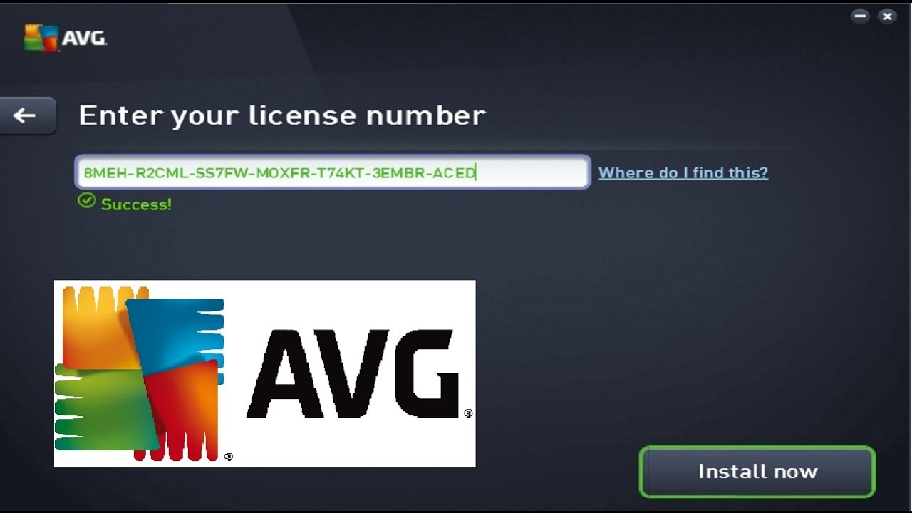 AVG 2017 Serial Key