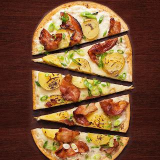 Potato and Bacon Flatbread Pizza.