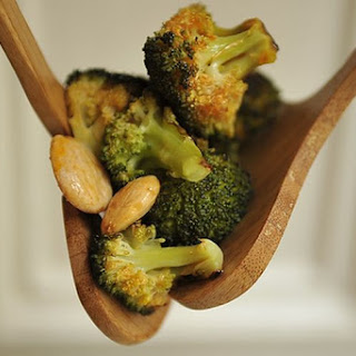 Roasted Broccoli with Smoked Paprika Vinaigrette and Marcona Almonds Recipe