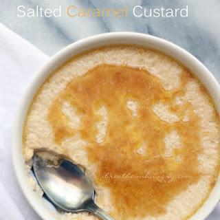 Egg Fast Recipe – Salted Caramel Custard (Low Carb).
