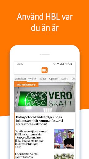Capturas de pantalla de HBL Nyheter 1