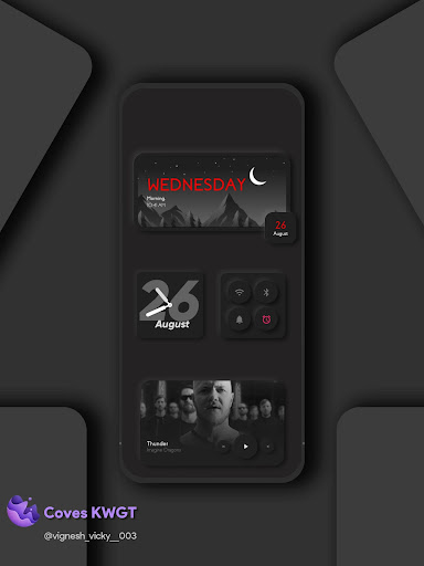 Coves KWGT - Neumorphism inspired widgets