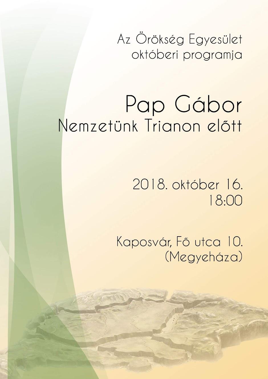 Pap Gábor plakát