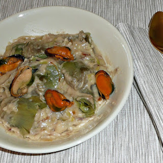 Artichokes with Anchovies Sauce, Nuts, and Mussels.