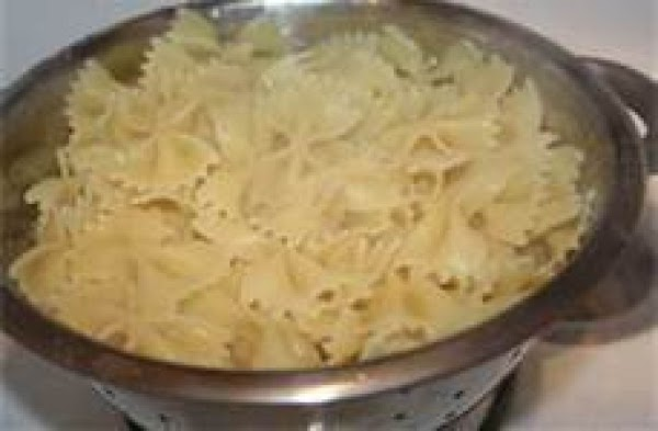 Drain and rinse pasta (aldente), place in large pasta bowl.  Pour sauce onto...