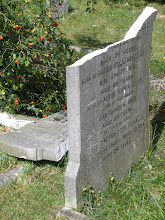 Photo: Recent desecration of a gravestone in Mill Road Cemetry